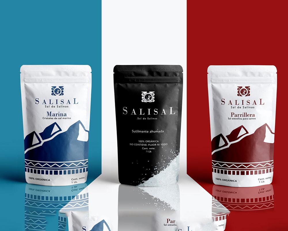 Bolsas de embalaje de sal impresas