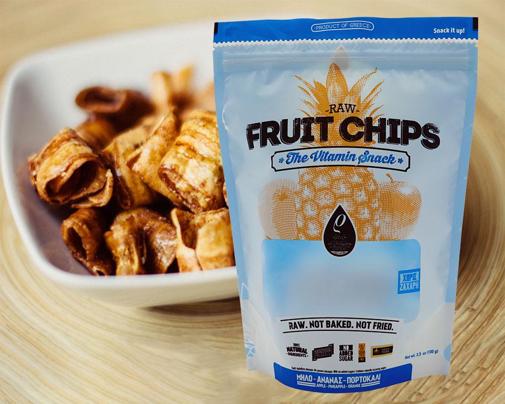Envasado de chips de fruta
