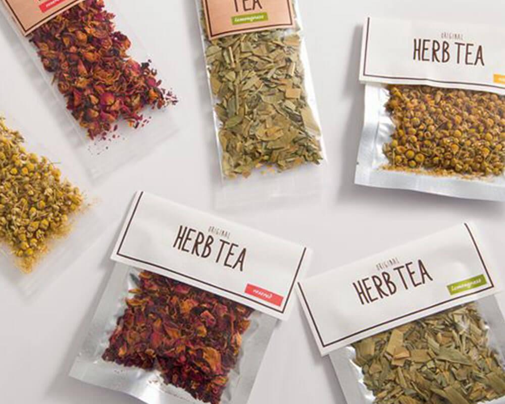 Bolsas de té de hierbas
