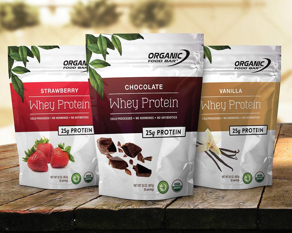 bolsas de proteína orgánica en polvo