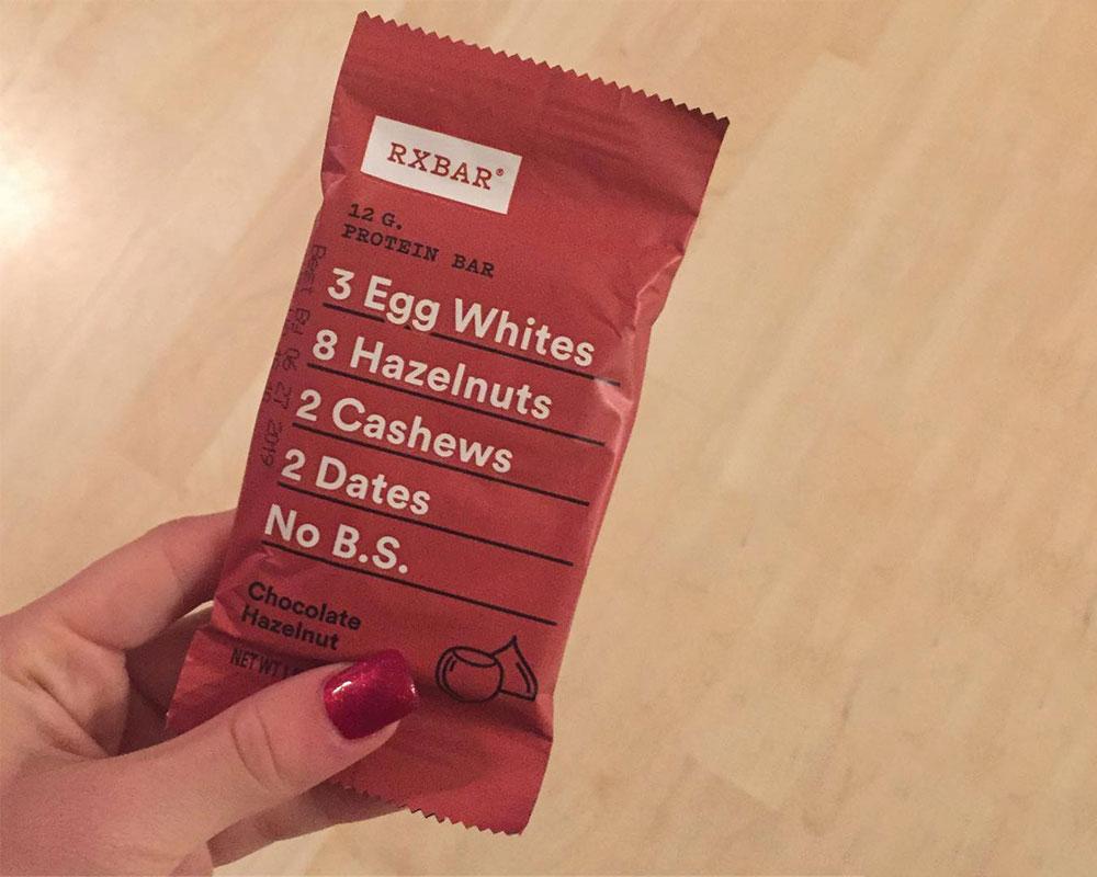 embalaje de barra de proteína