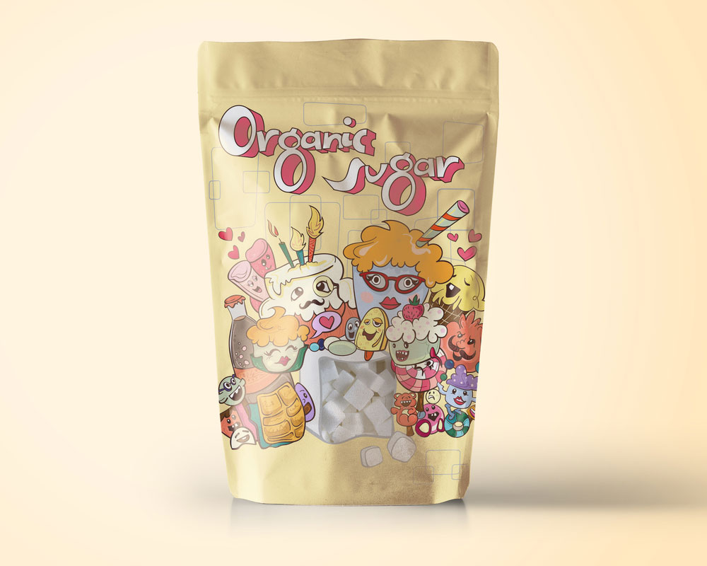 envasado de azúcar orgánico