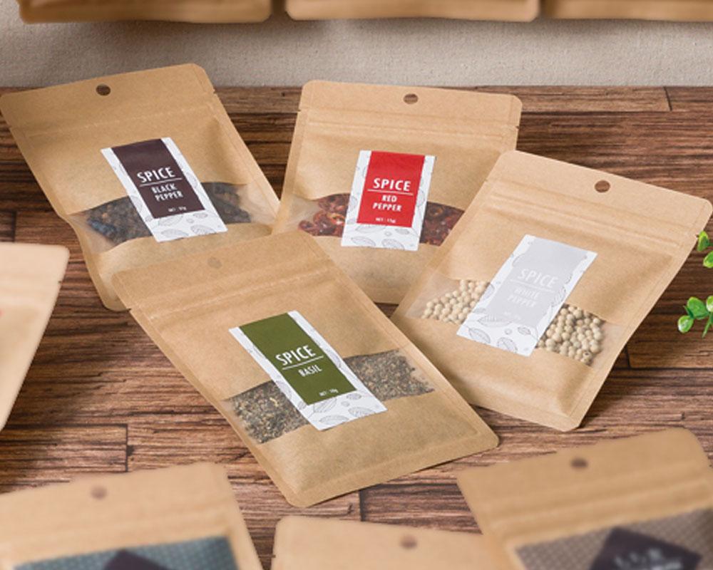 bolsas de Tres sellos laterales con cremallera para especias
