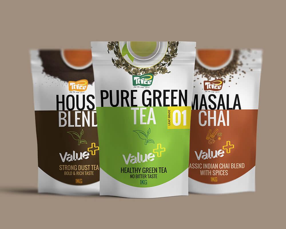 envasado de té verde puro